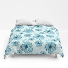 Blue Poppy Bash Comforters