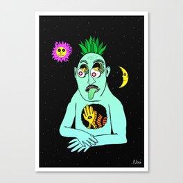 Trippy Face Canvas Print