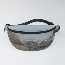 A Rocky Beach In Gloucester Fanny Pack