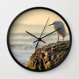 Young Egret Wall Clock