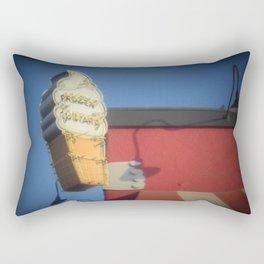 Santa Monica Pier Custard Stand Rectangular Pillow