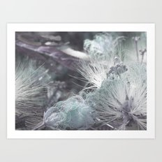 Yielding to Winter's breath Art Print