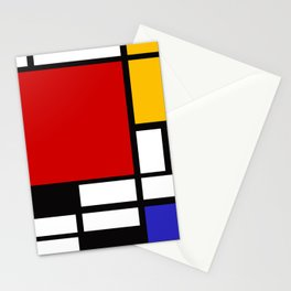 Piet Mondrian - Composition with Red, Yellow, and Blue 1942 Artwork Stationery Cards