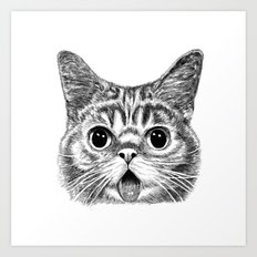 Tongue Out Cat Art Print