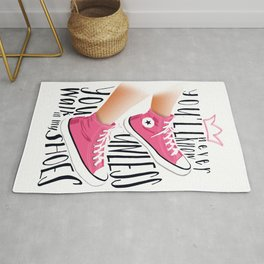 You'll Never Know typography poster Rug