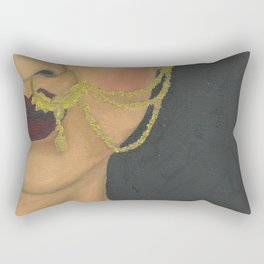 Woman With a Nose Ring Rectangular Pillow