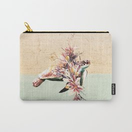 Turtle and bouquet Carry-All Pouch
