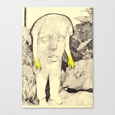 figure in a forest Canvas Print