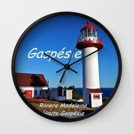 Riviere Madeleine Lighthouse , Gaspésie Wall Clock