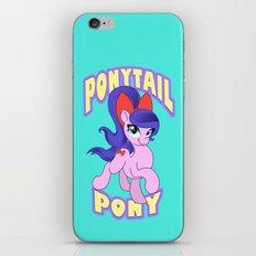 Ponytail Pony iPhone & iPod Skin