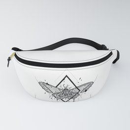 Butterfly Handmade Drawing, Made in pencil and ink, Tattoo Sketch, Tattoo Flash, Blackwork Fanny Pack