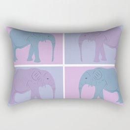 Elephant Pop Art  Rectangular Pillow