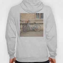 a mint green bicycle in Cambridge, England Hoody
