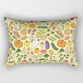 Veggie Friends Doodle Rectangular Pillow