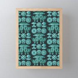 Ernst Haeckel - Scientific Illustration - Discomedusae (Jellyfish) Framed Mini Art Print