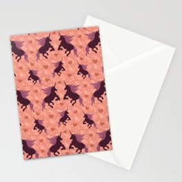 Unicorns Forever Peach Stationery Cards