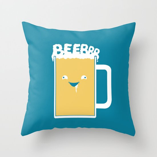 Beerrr Throw Pillow