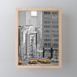 NYC - Yellow Cabs - Police Car Framed Mini Art Print