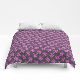 Dumbbellicious PINK GREY Comforters