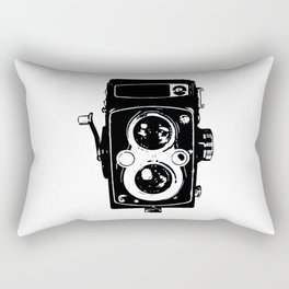 Big Vintage Camera Love - Black Rectangular Pillow