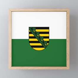 flag of Sachsen (historic state) Framed Mini Art Print