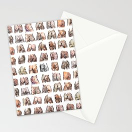Butts Butts Butts Stationery Cards