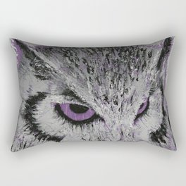 Violet Owl Rectangular Pillow