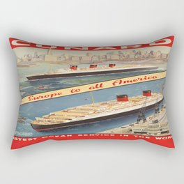 Vintage poster - Cunard Rectangular Pillow