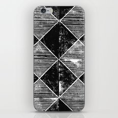 Chequers I Black iPhone & iPod Skin