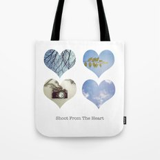 Shoot From the Heart Tote Bag