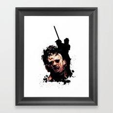 Leatherface: Monster Madness Series Framed Art Print