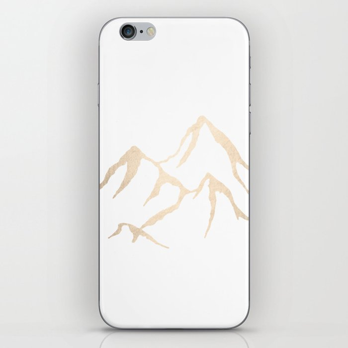 Adventure White Gold Mountains iPhone Skin