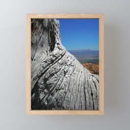 View of Bryce Canyon with Tree Trunk Framed Mini Art Print