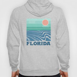 Florida - retro travel poster 70s throwback minimal ocean surfing vacation beach Hoody