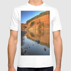 Lake Geirionydd Mens Fitted Tee MEDIUM White