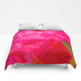 Pink Roses in Anzures 1 Abstract Polygons 3 Comforters