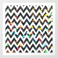 Chevron Sparkles Art Print