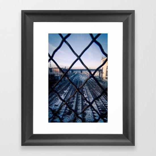 Paris Train Tracks Framed Art Print