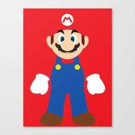 Mario - Minimalist - Nintendo Canvas Print