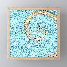 Mediterranean Wave Mosaic Framed Mini Art Print