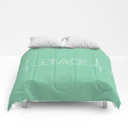 Peace Pulse Minimalist Christmas Comforters