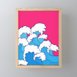 As the waves roll in Framed Mini Art Print