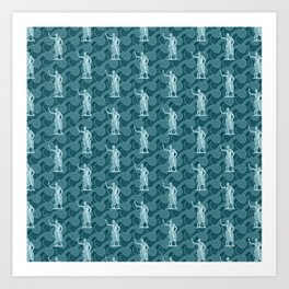 Poseidon OCEAN BREEZE / All hail the god of the sea Art Print