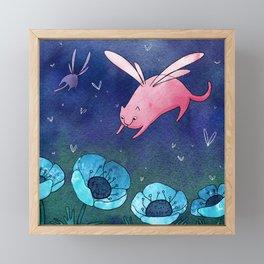 Fairy cat Framed Mini Art Print
