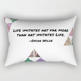 Life Imitates Art Rectangular Pillow