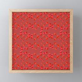 Alizarin Pomegranate Berries Framed Mini Art Print