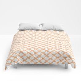 Orange Diamonds Comforters