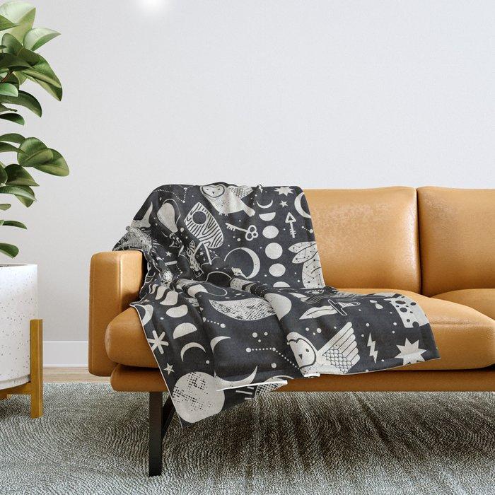 Lunar Pattern: Eclipse Throw Blanket