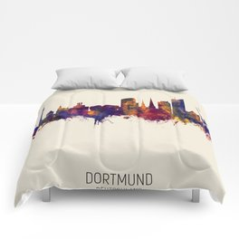 Dortmund Germany Skyline Comforters