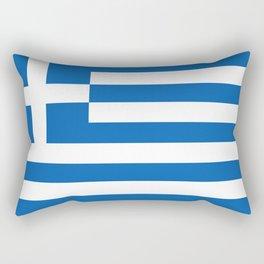 Flag of Greece, High Quality image Rectangular Pillow
